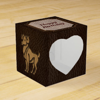 Leather-Look Aries Favor Box