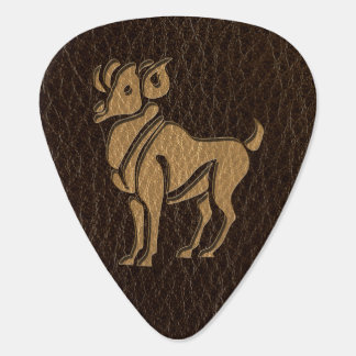 Leather-Look Aries Guitar Pick