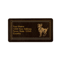 Leather-Look Aries Label