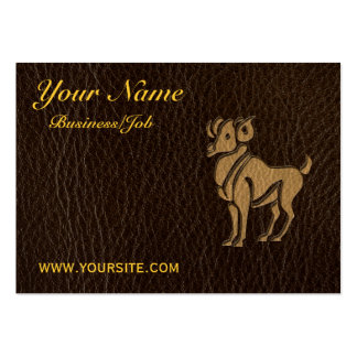 Leather-Look Aries Large Business Card
