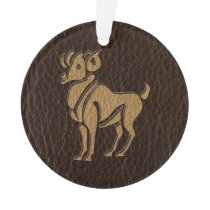 Leather-Look Aries Ornament