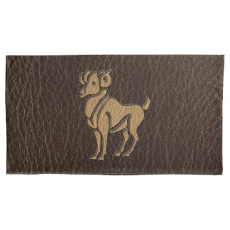 Leather-Look Aries Pillow Case