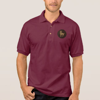 Leather-Look Aries Polo Shirt