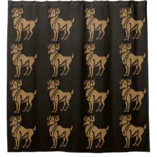 Leather-Look Aries Shower Curtain