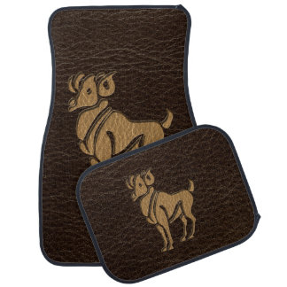 Leather-Look Aries Car Mat