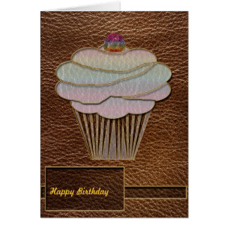 Leather-Look Baking Card