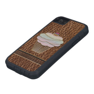 Leather-Look Baking Case For iPhone SE/5/5s