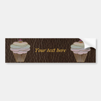 Leather-Look Baking Dark Bumper Sticker