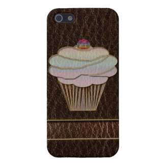 Leather-Look Baking Dark Case For iPhone SE/5/5s