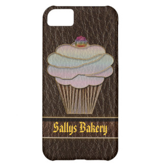 Leather-Look Baking Dark Cover For iPhone 5C