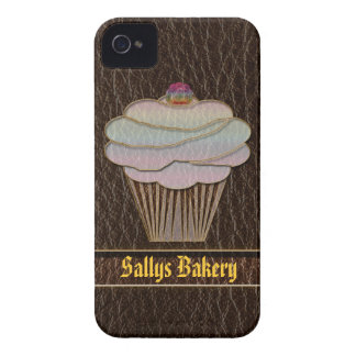 Leather-Look Baking Dark iPhone 4 Cover