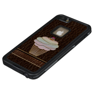 Leather-Look Baking Dark LifeProof FRĒ iPhone 6/6s Plus Case