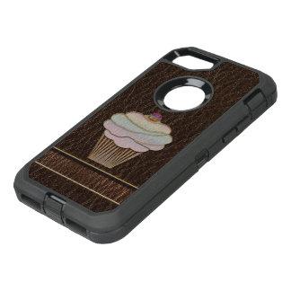 Leather-Look Baking Dark OtterBox Defender iPhone 7 Case