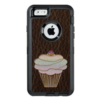 Leather-Look Baking Dark OtterBox Defender iPhone Case