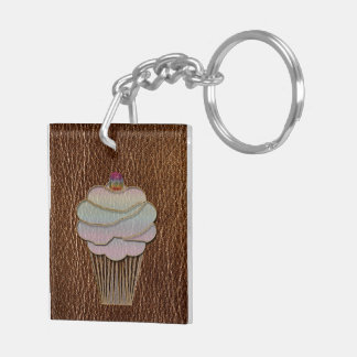 Leather-Look Baking Keychain