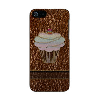 Leather-Look Baking Metallic Phone Case For iPhone SE/5/5s