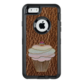 Leather-Look Baking OtterBox Defender iPhone Case
