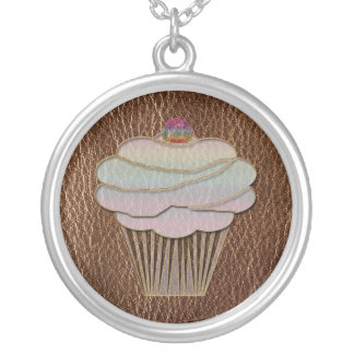 Leather-Look Baking Silver Plated Necklace