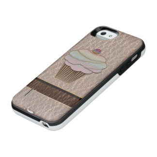 Leather-Look Baking Soft iPhone SE/5/5s Battery Case
