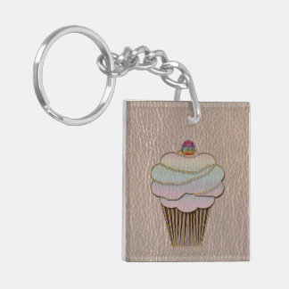 Leather-Look Baking Soft Keychain