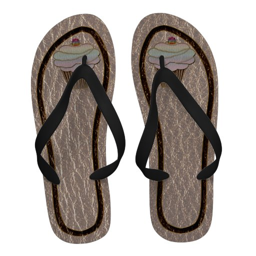 Leather-Look Baking Soft Sandals