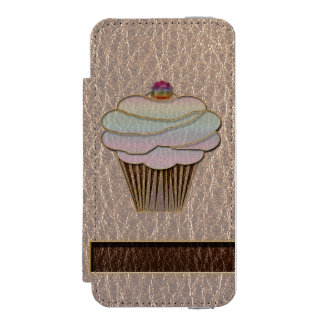 Leather-Look Baking Soft Wallet Case For iPhone SE/5/5s