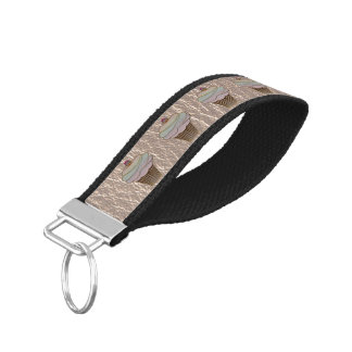Leather-Look Baking Soft Wrist Keychain