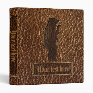 Leather-Look Black Bear Binder