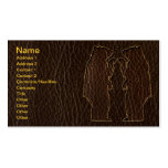 Leather-Look Black Bear Dark Business Cards