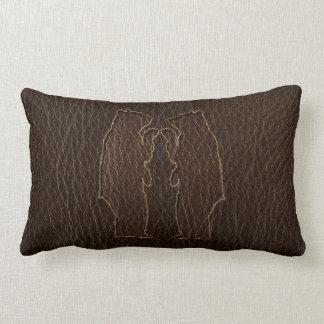 Black Leather Pillows - Decorative & Throw Pillows Zazzle