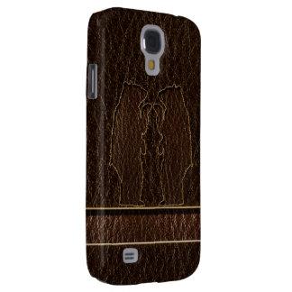 Leather-Look Black Bear Dark Samsung S4 Case