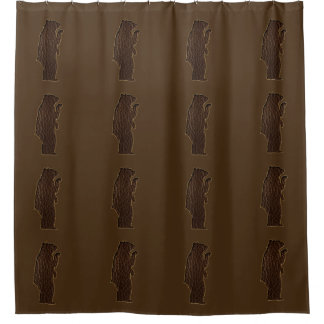 Curtains Ideas black leather shower curtain : Brown Bear Shower Curtains | Zazzle