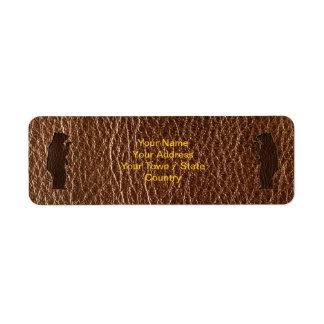 Leather-Look Black Bear Label