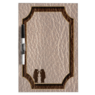 Leather-Look Black Bear Soft Dry Erase Boards