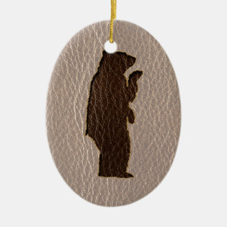 Leather-Look Black Bear Soft Ornament