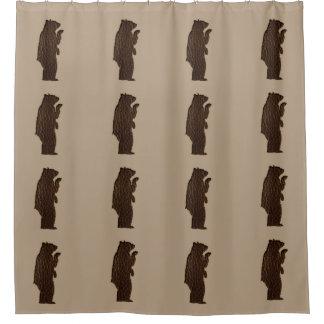 Curtains Ideas black leather shower curtain : Brown Bear Shower Curtains | Zazzle