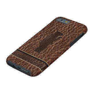 Leather-Look Black Bear Tough iPhone 6 Case