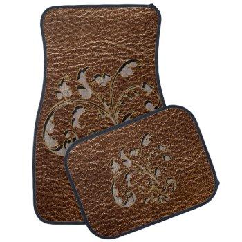 Leather-Look Bouquet 2 Car Mat