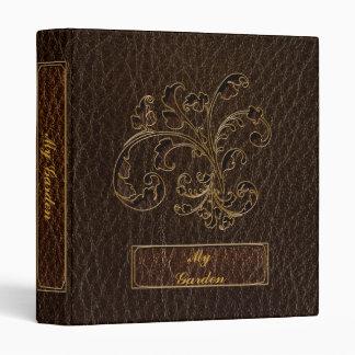 Leather-Look Bouquet 2 Dark 3 Ring Binder