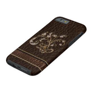 Leather-Look Bouquet 2 Dark Tough iPhone 6 Case