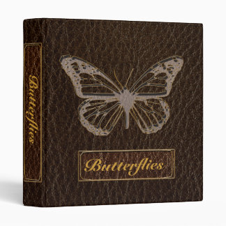Leather-Look Butterfly Dark Binder
