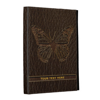 Leather-Look Butterfly Dark iPad Folio Cover