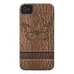 Leather-Look Butterfly iPhone 4 Case-Mate Cases