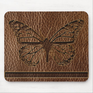 Leather-Look Butterfly Mouse Pad