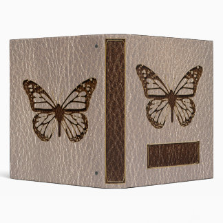 Leather-Look Butterfly Soft 3 Ring Binder