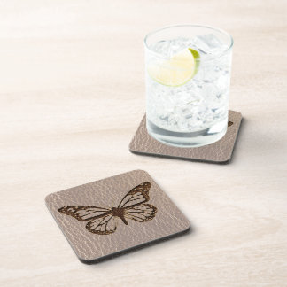 Leather-Look Butterfly Soft Coaster