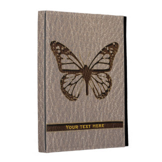Leather-Look Butterfly Soft iPad Folio Case