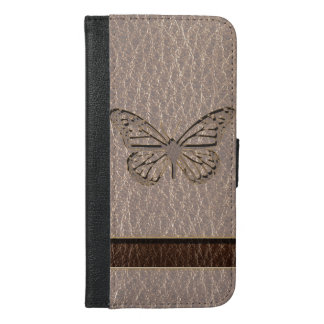 Leather-Look Butterfly Soft iPhone 6/6s Plus Wallet Case