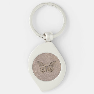 Leather-Look Butterfly Soft Keychain