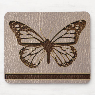 Leather-Look Butterfly Soft Mouse Pad